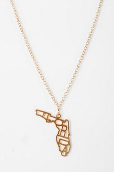 FLO RIDA  Kris Nations State Charm Necklace   #UrbanOutfitters