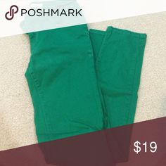 Green love culture skinnies size 7 Skinnies! In good condition! Love Culture Pants Skinny