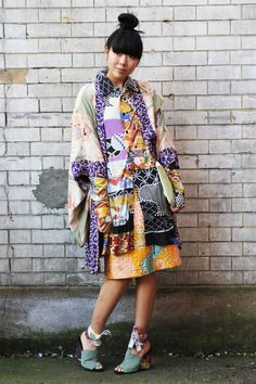 I do love a kimono especially in a fash mash style as worn here by Susie Bubble
