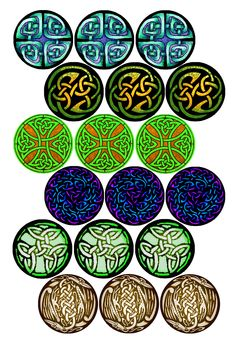"Celtic Knots #2 Bottle cap image pack Formatted for printing on 4"" x 6"" photo paper"