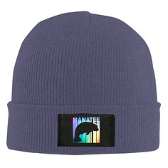 """Retro Style Manatee In Santa Hats Unisex Warm Winter Hat Knit Beanie Skull Cap Cuff Beanie Hat Winter Hats Navy. 100% Soft Acrylic,Stretchable,One Size Fits Most,Shipping Around 5-17 Days,Width:7"""",Height:12"""". Cuffed Skull Beanie Knit Hat/Cap,easy To Match And Suitable For Any Style Of Clothes. Beanie Looks Great On Guys And Girls And Its Perfect To Wear As Your Daily Beanie. Machine Washable.Perfect For Outdoor Activities Such As Skiing, Snowboarding Or Simple Walks Throughout The Cold..."""