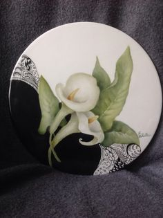 Calla lilies with zen tangle--study #37--web site: charlenewhitler.com