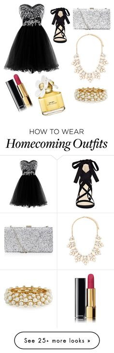 """""""Homecoming with BAM"""" by cristiodell on Polyvore featuring Nine West, Forever 21, R.J. Graziano, Marc Jacobs and Chanel"""