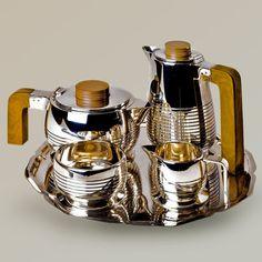 Art Deco silver plated coffee/tea set   Eliska, Ist Dibs