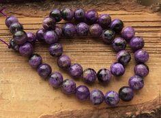 Чароит шар 10 мм гладкий бусины камни для украшений. Handmade.