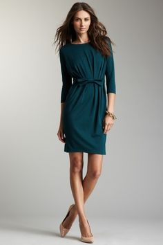 vfish Nina Dress teal green; also available in black