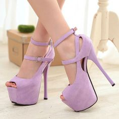 Sexy Women's Ankle Straps Sandals Shoes Stiletto Super High Heels Platform Pumps | eBay