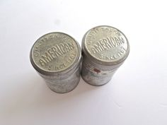 Pair of Vintage Snuff Tins American Snuff Co. Cannisters Snuff Lover Gift Mixed Media Advertising Tin (14.00 USD) by VintageRescueSquad