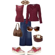 deck shoes, polyvore of modest and feminine clothing with accessories