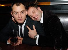 jude law and johnny lee miller. CUDDLING.