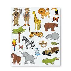 """Comprar Blister 12 h Gomets Temáticos """" La Selva"""" Apli 11445 #manualidades #animalesalvajes #niños #infatil #gomets"""