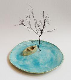 Boat, mixed media by Joan Whitmore