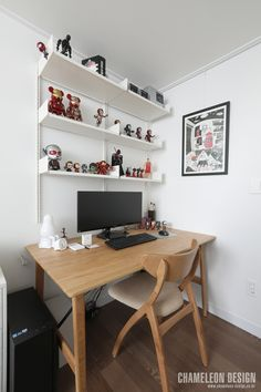 [시공사례] 철산 두산위브 / 24평 / 구정 브러쉬골드 애쉬브라운 / 따뜻한 우드 포인트 인테리어 / interior by 카멜레온 디자인 : 네이버 블로그 Contemporary Design, Office Desk, Corner Desk, Interior, House, Furniture, Home Decor, Corner Table, Desk Office