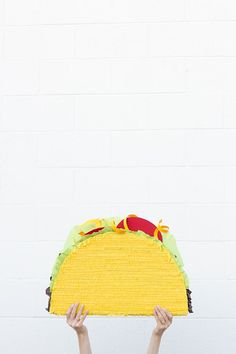 DIY Taco Pinata. It's a taco pinata people, I'm kind of freaking out.