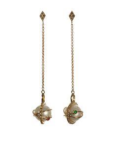 Laika white pearl drop earrings — iKuria