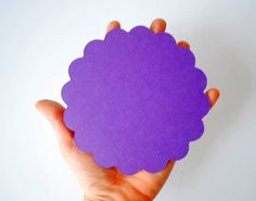 New to Mariapalito on Etsy: Circle Die Cut Scalloped Circle Scallops for Banner (5.0 inches) Scalloped Circle Die Cuts in Textured Cardstock A112 (4.25 USD)