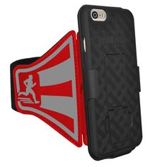 AMZER Shellster Armband Case for iPhone 6/6s - Retail Packaging - Red. Innovation: convenience of an armband, protection of shell holster. The shellster armband Features AMZER One of a kind Snap-On shellster case. Protection: the protective, Stylish, slim & lightweight snap on case provide all around protection to your iPhone 6/6S while built in holster system eliminates the need to remove the case before each workout. Comfort: made up of soft breathable neoprene. Lightweight stretch...