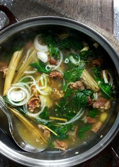 A close variation to Vietnamese Pho Bo from the Yunnan Provence in China.  It is one of my favorite things to slurp down on a cold winter day.  http://www.ladyandpups.com/2013/01/11/soup-from-yunnan-eng/