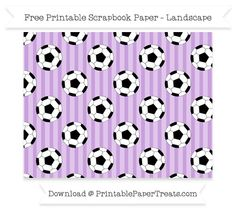 Landscape Wisteria Striped Large  Soccer Ball Pattern Paper
