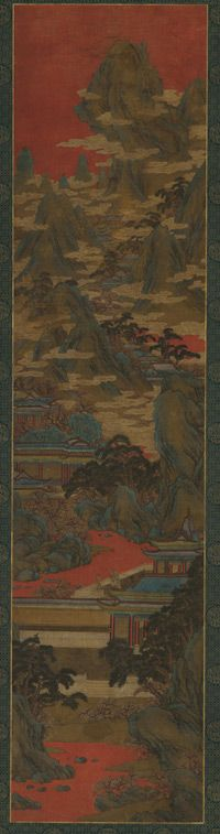 Palace Ladies Watching the Sunset |  16th-17th century | Zhao Boju, (Chinese, ca. 1120s-ca.1162) | Ming dynasty | Ink and color on silk | China | Gift of Charles Lang Freer | Freer Gallery of Art | F1911.540