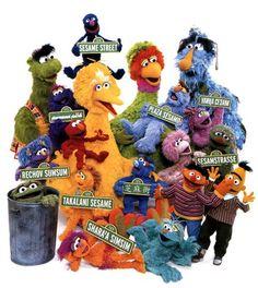 International Sesame Street characters