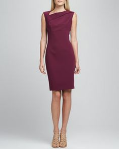 Persia Asymmetric Dress by T Tahari at Neiman Marcus.