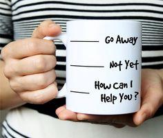 Go Away Mug Go Away Coffee Mug travel mugs funny cups ceramic white mug home decal porcelain tea cups drink water milk beer