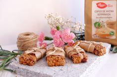 Receta: Barritas de Avena Germinada y Arándanos. Nutritiva y deliciosa receta de  @greenandpepperf  💕