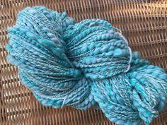 Hand spun art yarn chuncky spiral yarn merino by SilkWoolTouch Art Yarn, Hand Spinning, Spiral, My Etsy Shop, Unique Jewelry, Handmade Gifts, Crafts, Kid Craft Gifts, Spinning