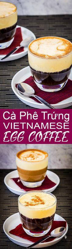 cà phê trứng vietnames egg coffee