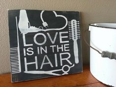 Hand Painted HAIRSTYLIST Hair Dresser by TheBeesKneesOhio on Etsy, $20.00