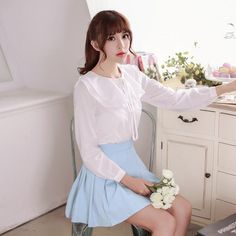 Double flounced long-sleeved bottoming shirt - AddOneClothing - 4