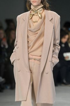 Rodarte | I love a pink powdery outerwear look. Oh and the fabric covered buttons!