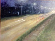 """COLUMBIA ST. Artist - Laura Wood -2001 oil on canvas 18""""x23"""" bought TOAE"""