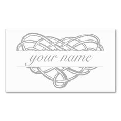 Name in Heart Ornament Business Card Template