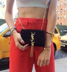 Chiara Ferragni ❤️ italian style It girl Chic sty Fashion Lovely street style YSL handbag