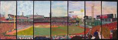 Fenway Park (each panel created by different quilters!)