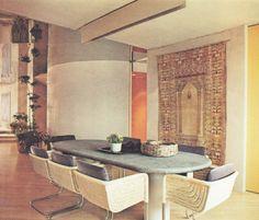 drydockshop: New York Highrise Vintage Interior Design, Bohemian Interior, Vintage Interiors, 1970s Decor, Retro Home Decor, Space Architecture, Mid Century Decor, Room Inspiration, Living Room Decor