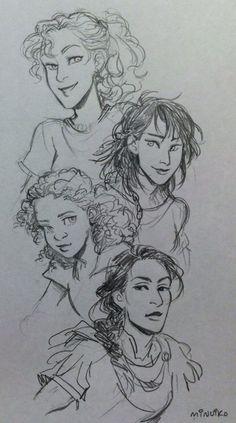 The ladies of Heroes of Olympus.