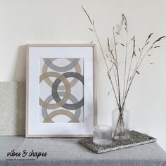 Abstract meets Nature: With the magic of symmetry and neutral soft colors lets look into the future with lots of good vibes! 🥰 #geometry #poster #homedecoration Shape Posters, Graphic Design Posters, Magical Home, Inspirational Text, Modern Art Prints, All Poster, Typography Prints, Neutral Tones, Soft Colors