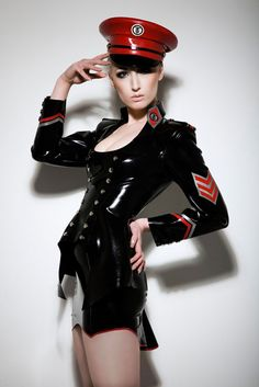 Remarkable, this military style fetish tops
