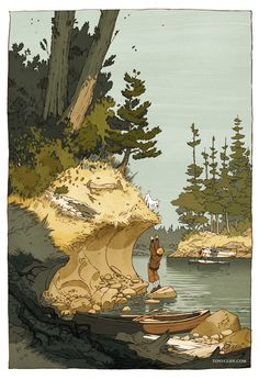 Adventures in the Pacific Northwest - depicting one of literature's finest young adventurers, now having traveled to the beautiful, exotic north-west coast of North America // tintin in my territory - aaaahh!