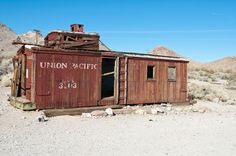 Abandoned Caboose  Near Rhyolite Ghost Town, Death Valley (Image: Ravenelle, cc-3.0)