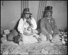 Blackfoot Indians /University of Oklahoma. No date, location, or additional information re: this photo.