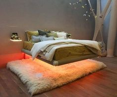 Levitas Design's EXO bed in the USA. Designed and handmade in Britain, our bed was chosen by Arianna Huffington's Thrive Global team for the launch of Arianna's new business at the pop up store 419 Broome st NY.