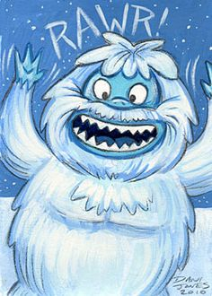 Rawr!  Bumble the Abominable Snow Monster by danidraws.deviantart.com