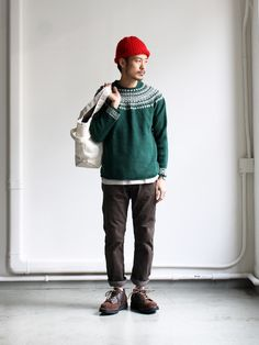 Nor' Easterly L/S Wide Neck 2Tone Nordic