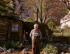 My Great Great grandma. : Josie Bassett, 1959 at her ranch in Utah. It is now part of Dinosaur National Monument.