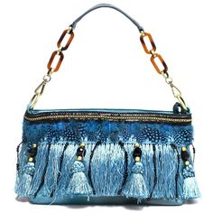 Blue feather bag