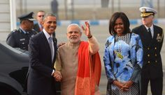 The lovefest between President Barack Obama and Prime Minister Narendra Modi was in full swing Sunday at the start of the U. leader's visit to India.